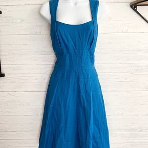 Jessica Simpson Blue Square Neck Skater Dress